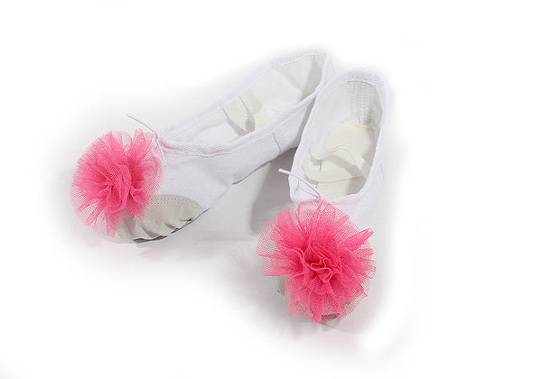Ballet Slippers With Pink Bow