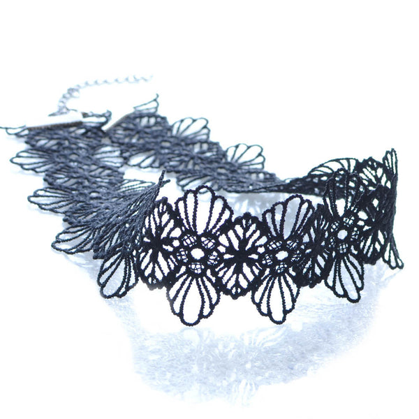 Black Lace Flower Choker