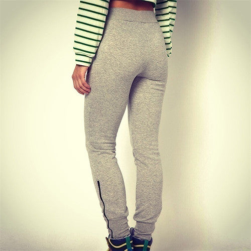 Grey Slim Fit Jogger Sweatpants