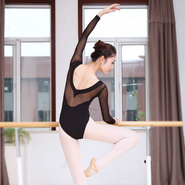 Long Sleeve Black Ballet Leotard
