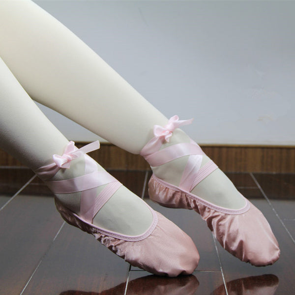 Ballet Slippers With Ribbon Bowtie