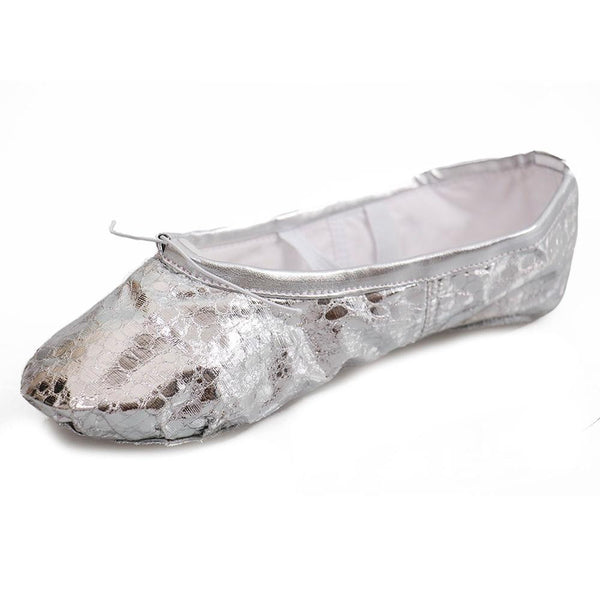 silver dance slippers