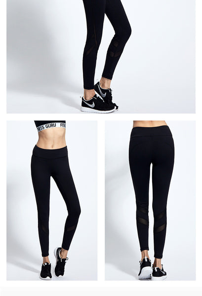 Slashed Calf Athletic Leggings