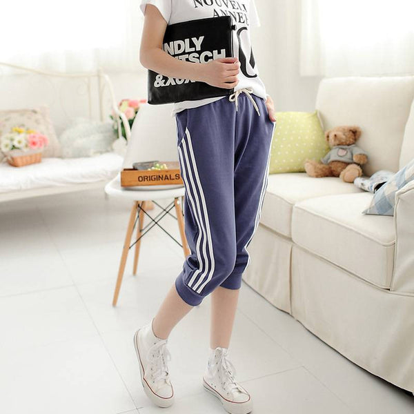 Three Striped Capri Jogger Pants