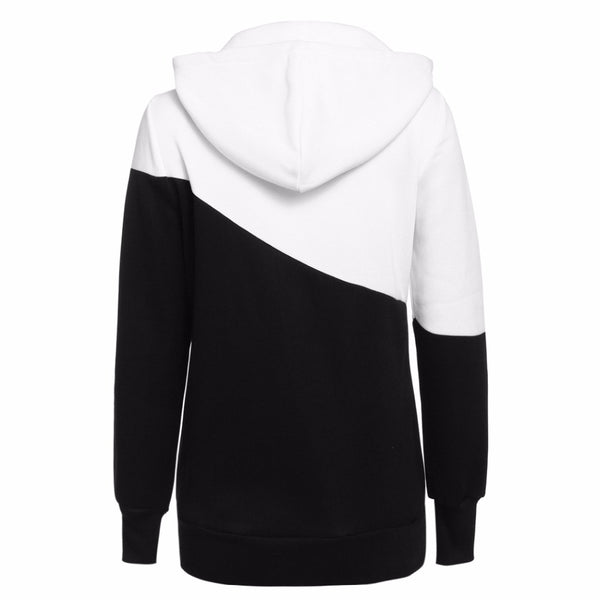 Block Colored Casual Hoodie