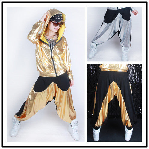 Gold and Black Joggers