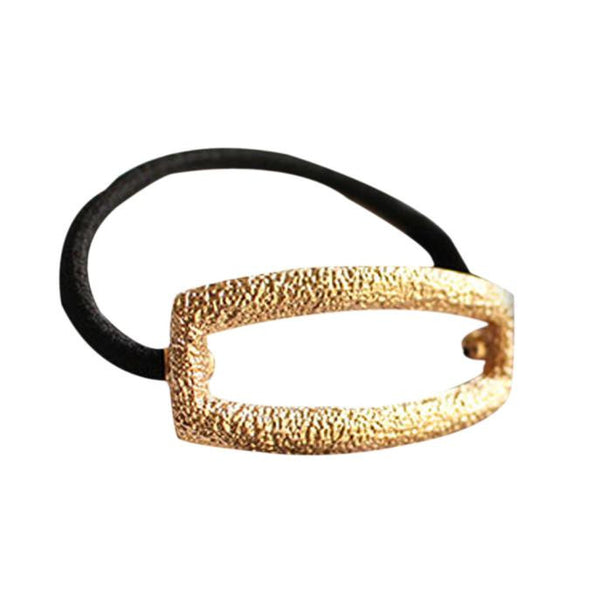 2 Pieces Gold Hollow Hair Tie