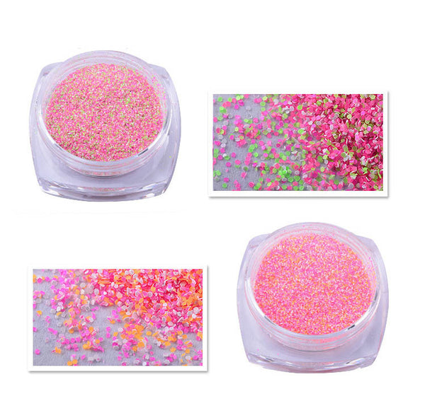 12 Colors Shimmer Fluorescent Powder Dust