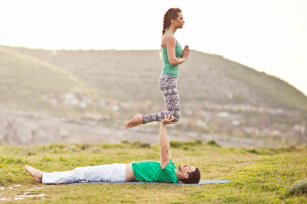 Couples Yoga Tips For Starting Sample Tandem Pose