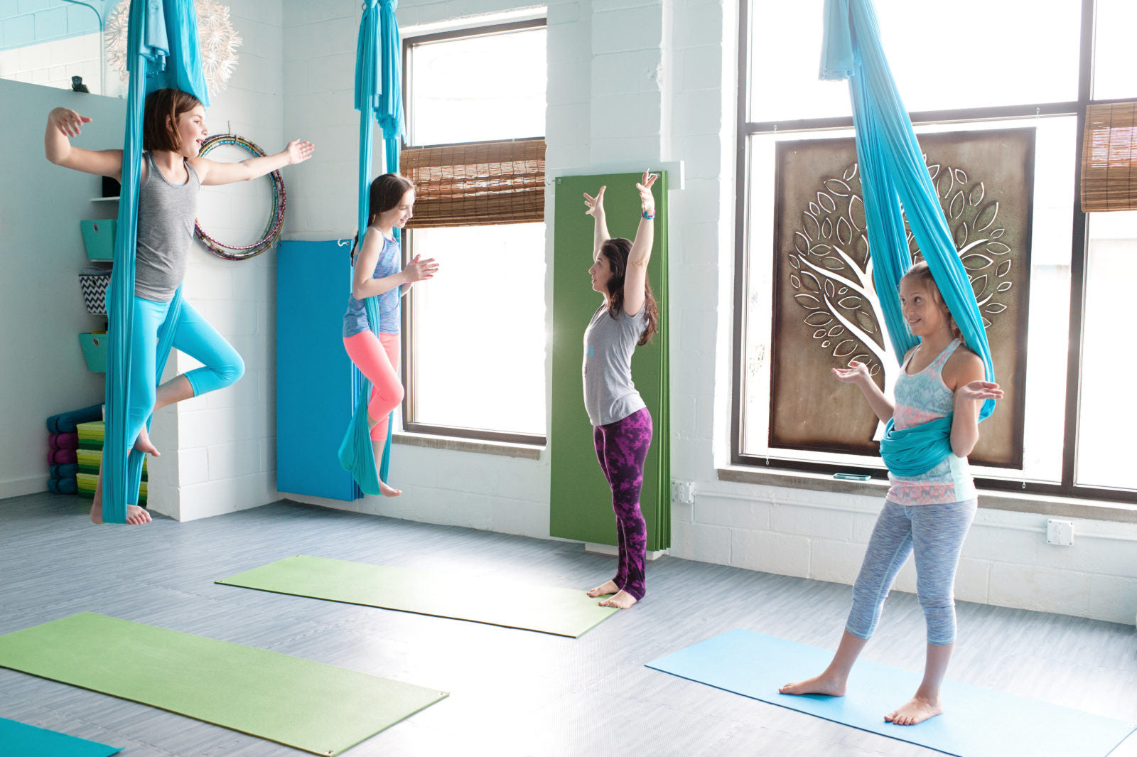 Kids Aerial Yoga Takes Flight