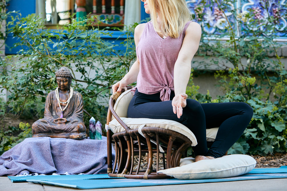 Behind the Scenes: Meditation Photoshoot at the Boulder Dushanbe Teahouse