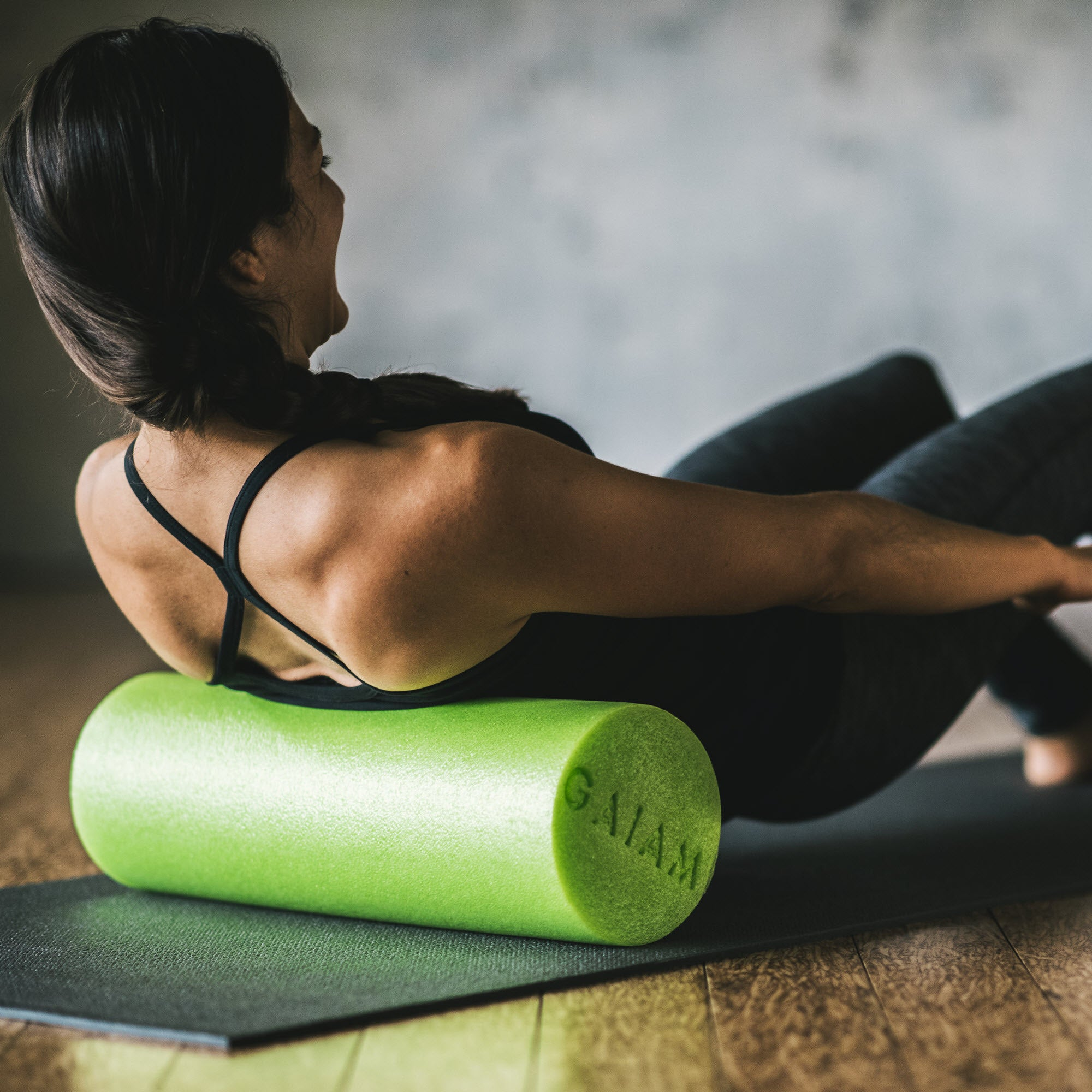Buy foam roll physical therapy -  Restore Muscle Therapy Foam Roller 18 Woman Rolling
