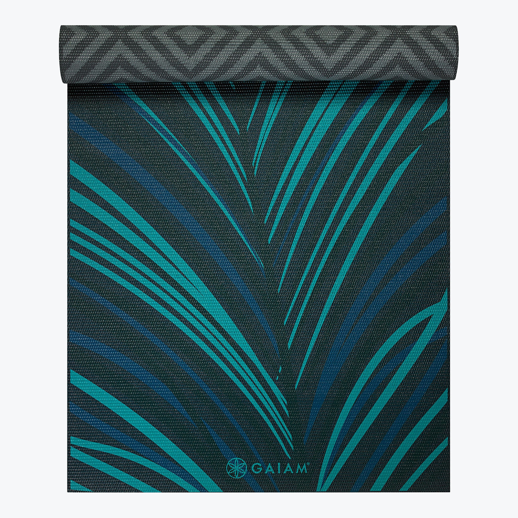 Image of Reversible Geo Feather Yoga Mat (6mm)