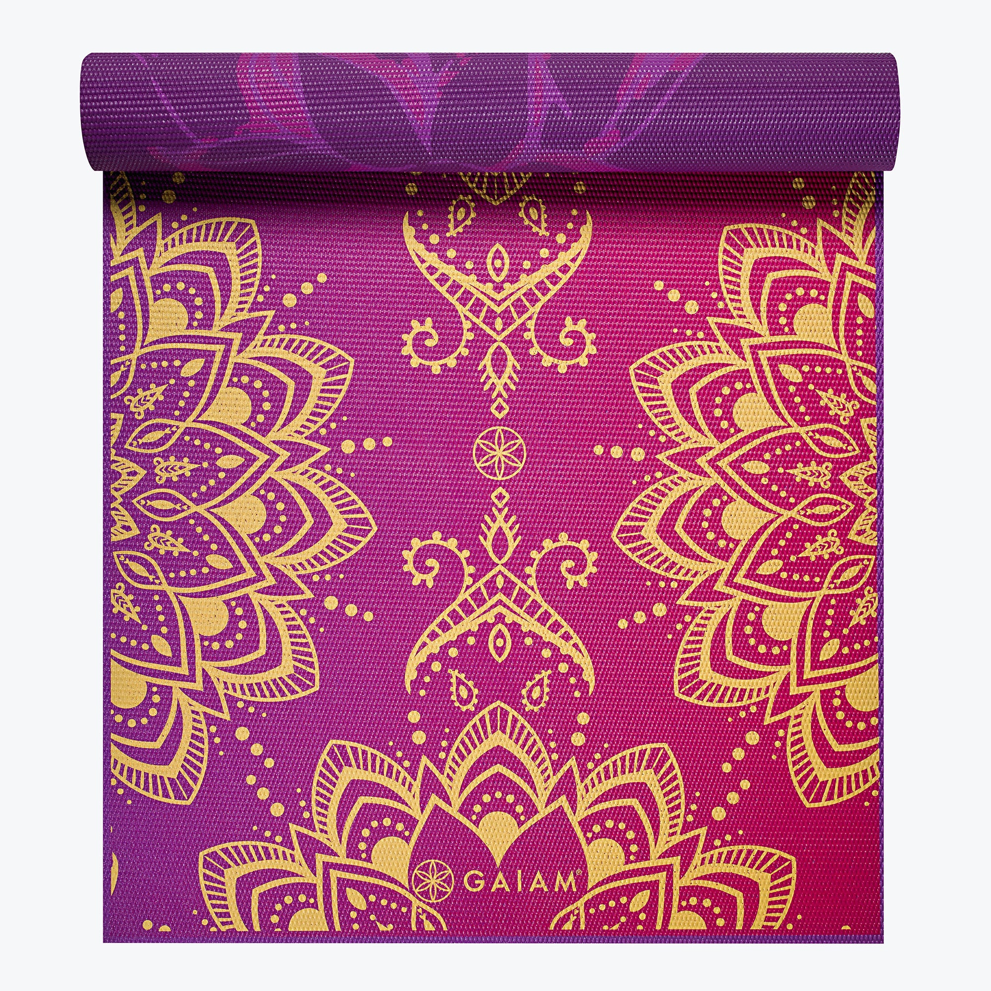 Reversible Royal Bouquet Yoga Mat 6mm Gaiam