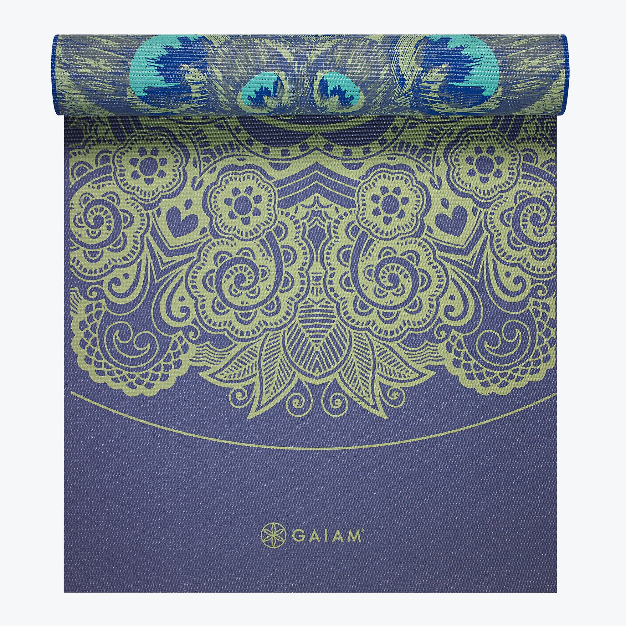 Reversible Peacock Lace Yoga Mat 6mm Gaiam