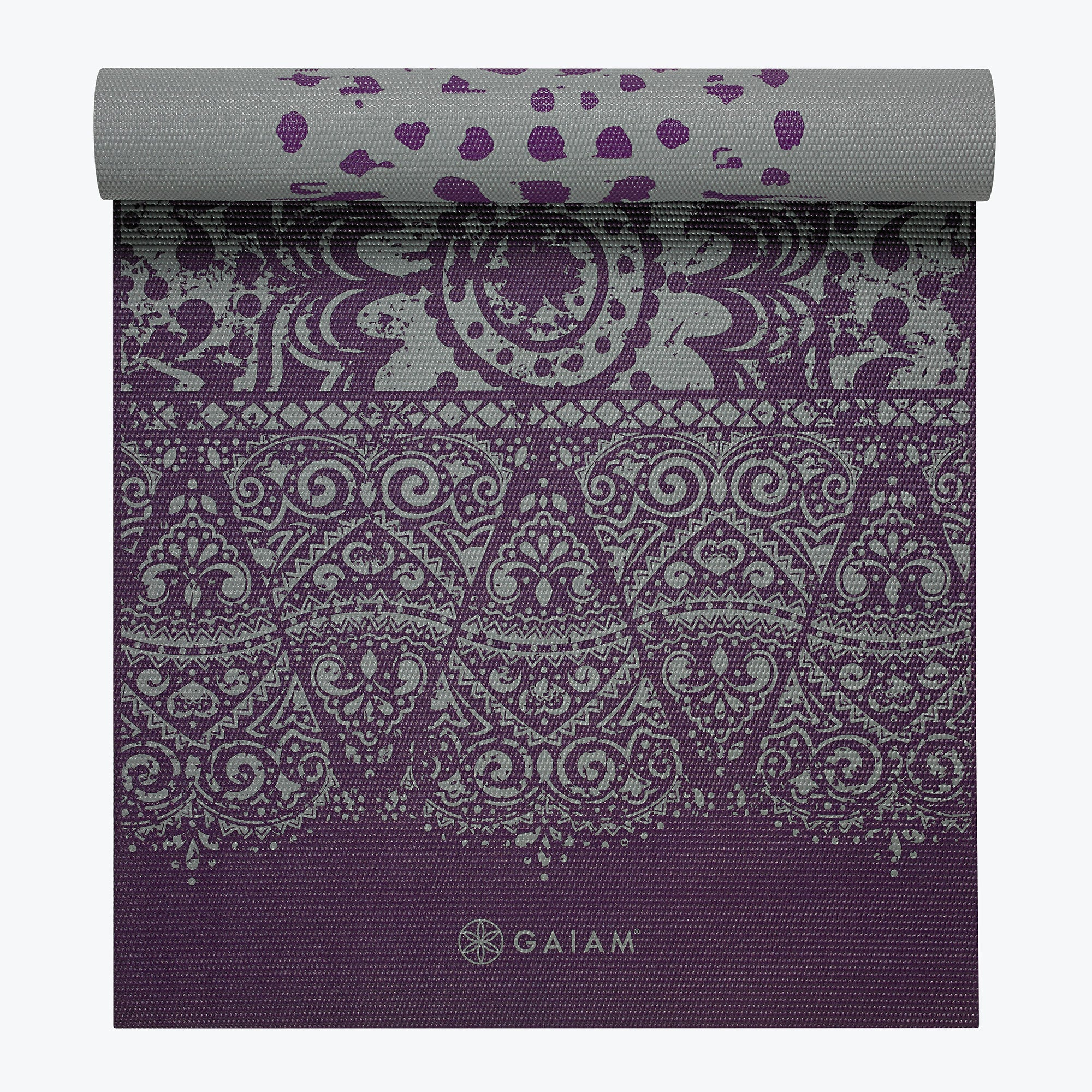 Image of Reversible Plum Etching Yoga Mat (6mm)