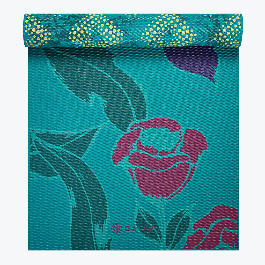 Reversible Botanical Garden Yoga Mat 6mm Gaiam