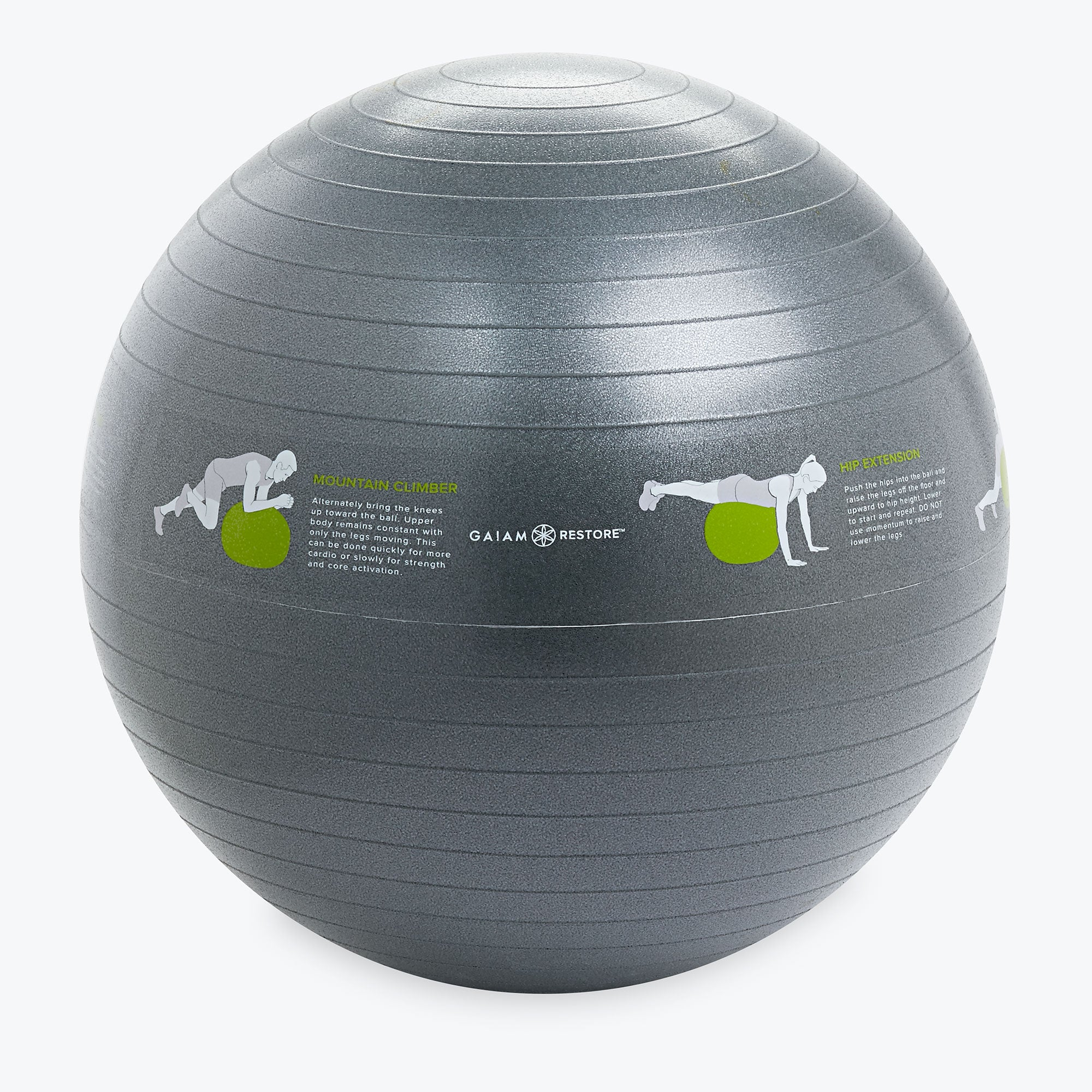 Stability Ball Manual: Restore Self-Guided Stability Ball