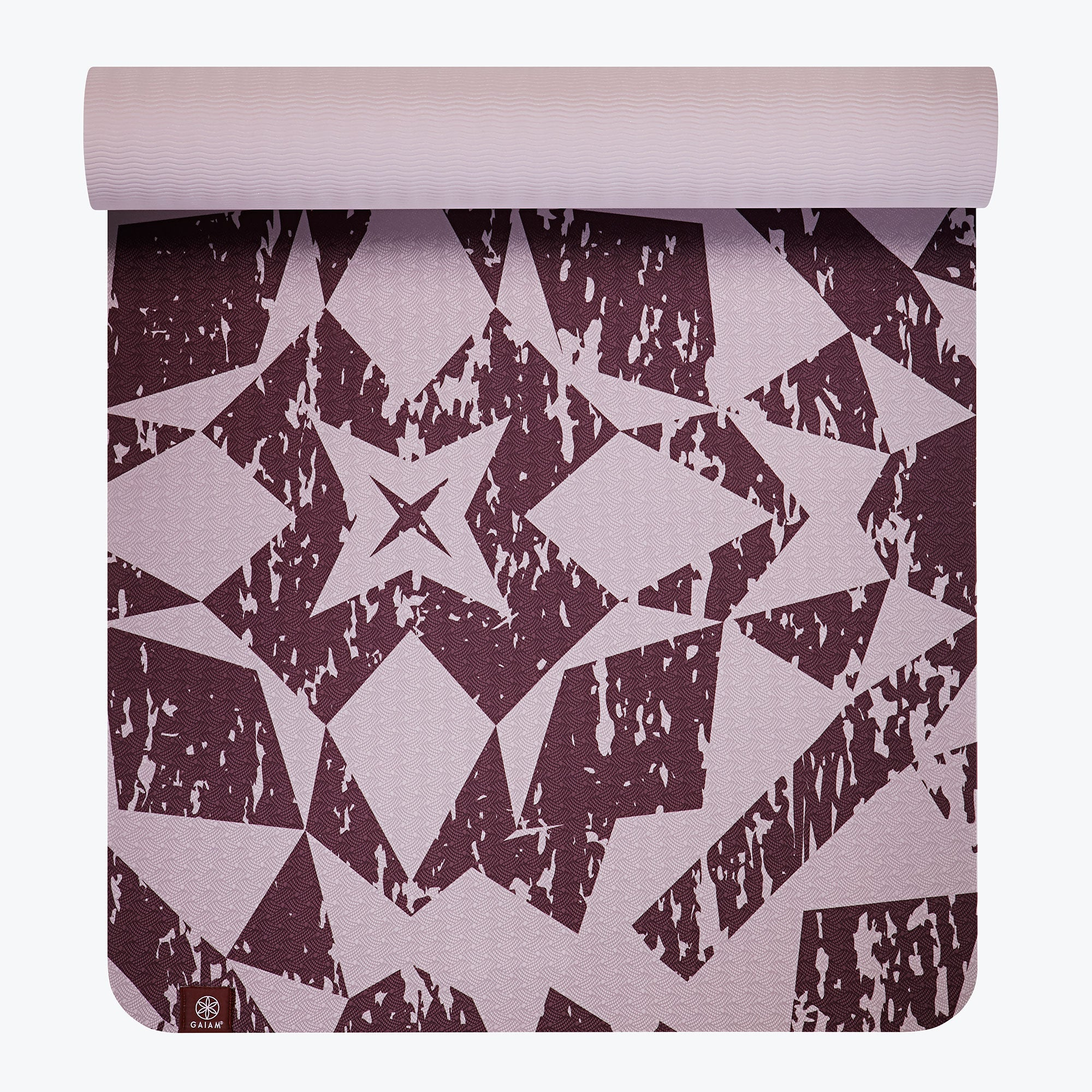 Image of Performance TPE Lilac Printed Yoga Mat (6mm)
