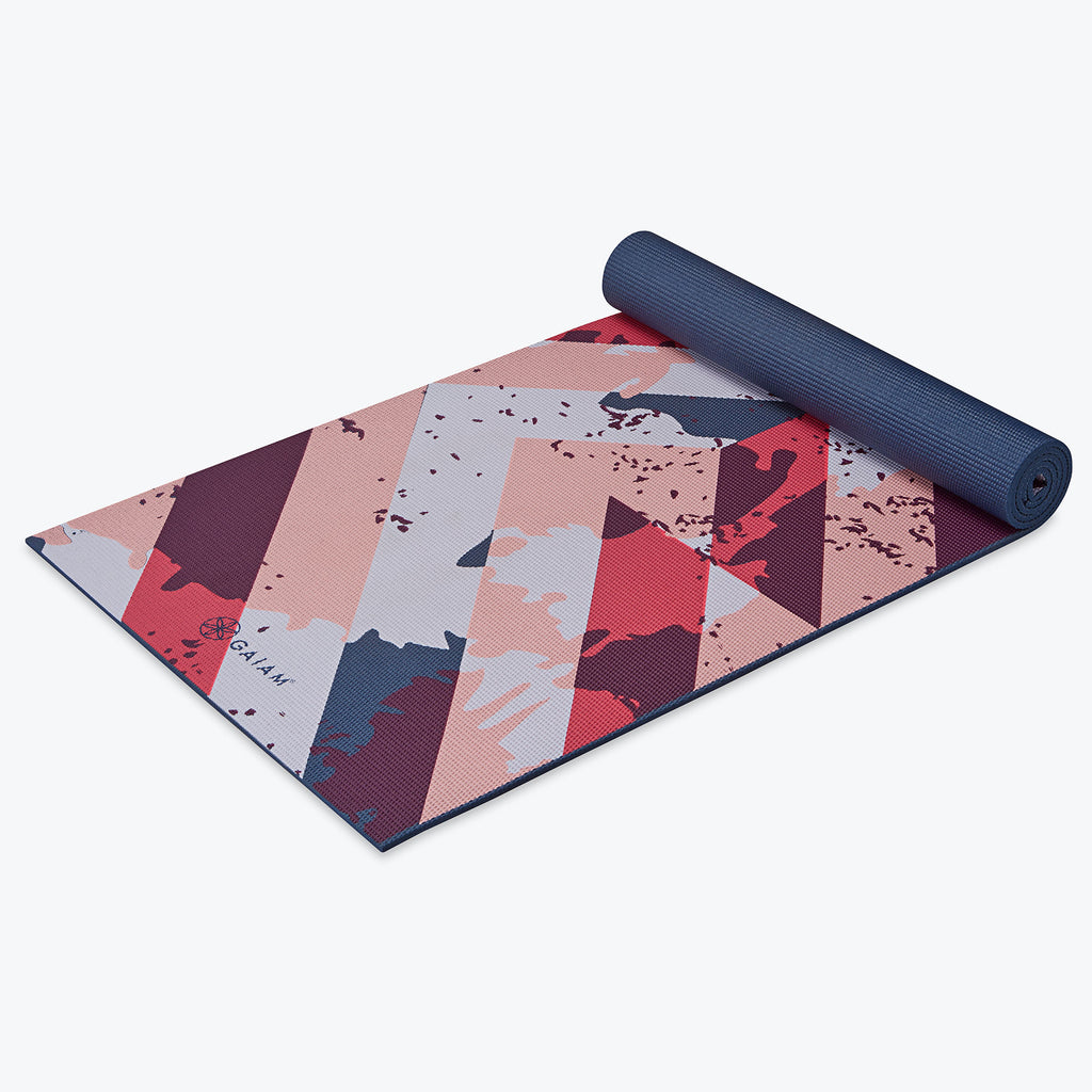 Premium Retro Rhythm Yoga Mat 6mm Gaiam