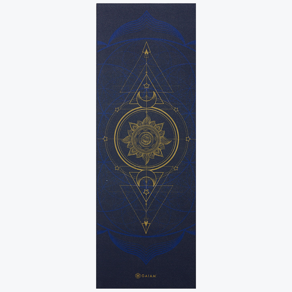 Reversible Metallic Sun Amp Moon Yoga Mat 6mm Gaiam