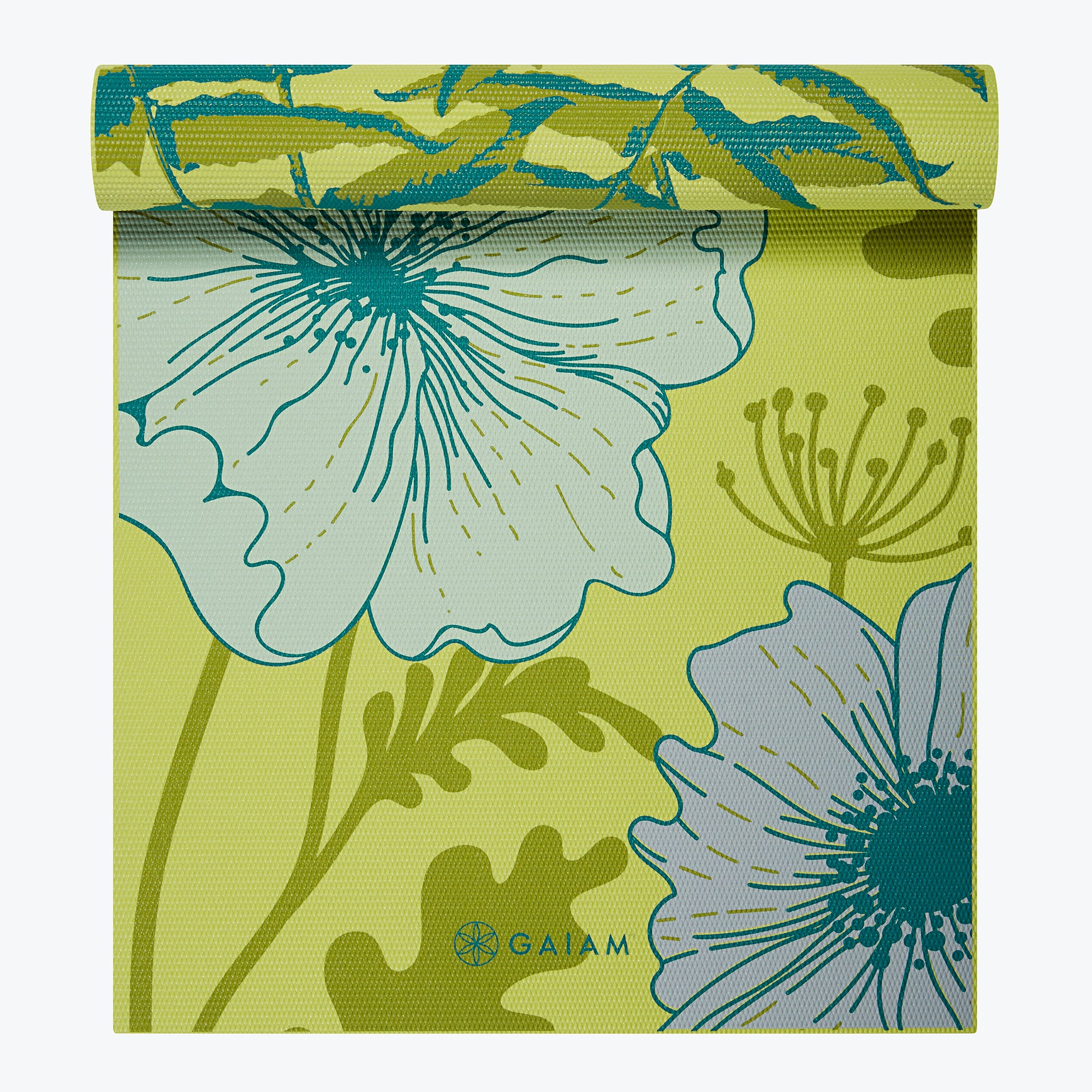 Image of Reversible Floral Fern Yoga Mat (6mm)