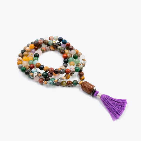 Silver & Sage Color Outside the Lines Mala