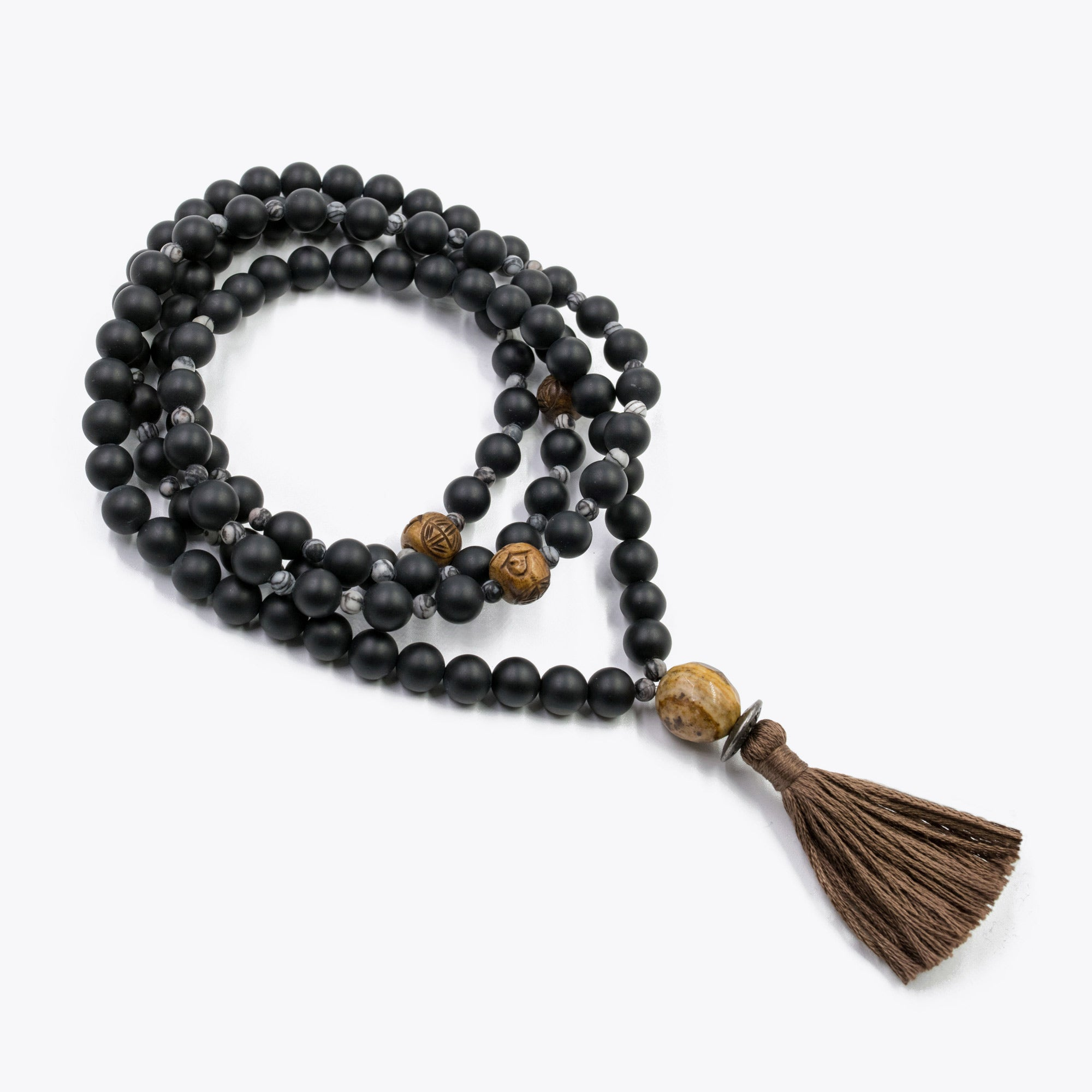Image of Silver & Sage Endless Potential Mala