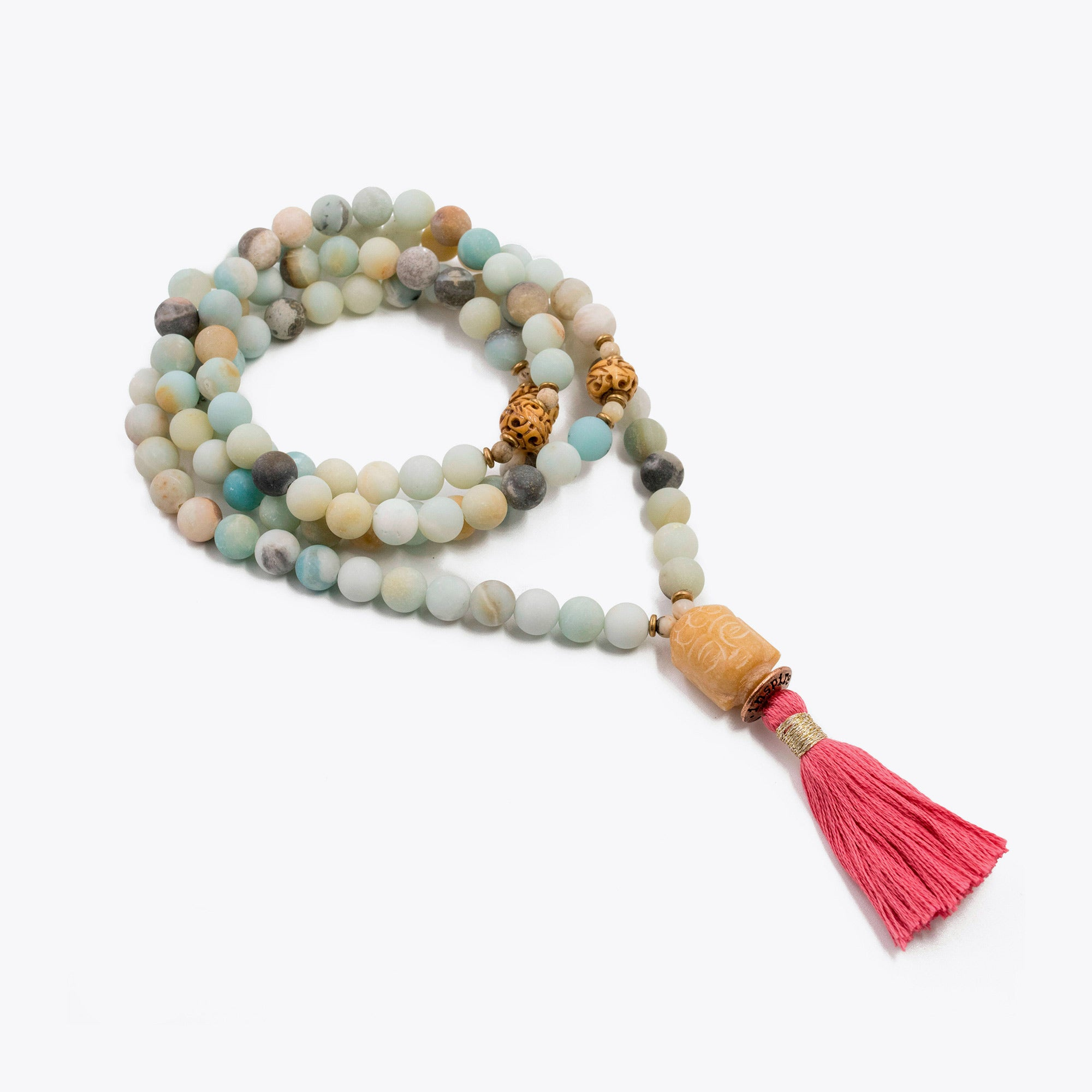 Image of Silver & Sage Sea of Love Mala