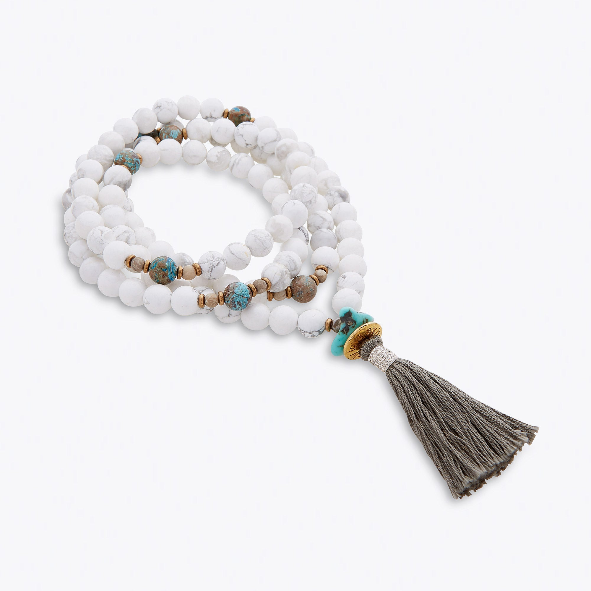 Image of Silver & Sage Peace Whispers Mala