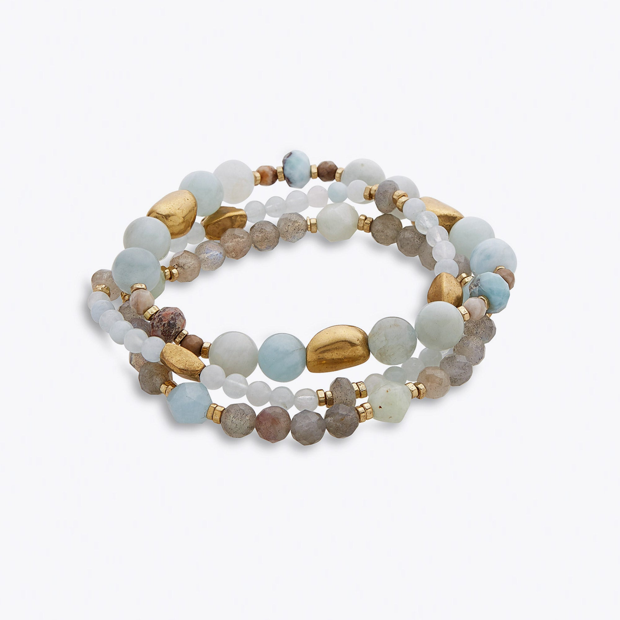 Image of Silver & Sage Morning Mist Bracelets
