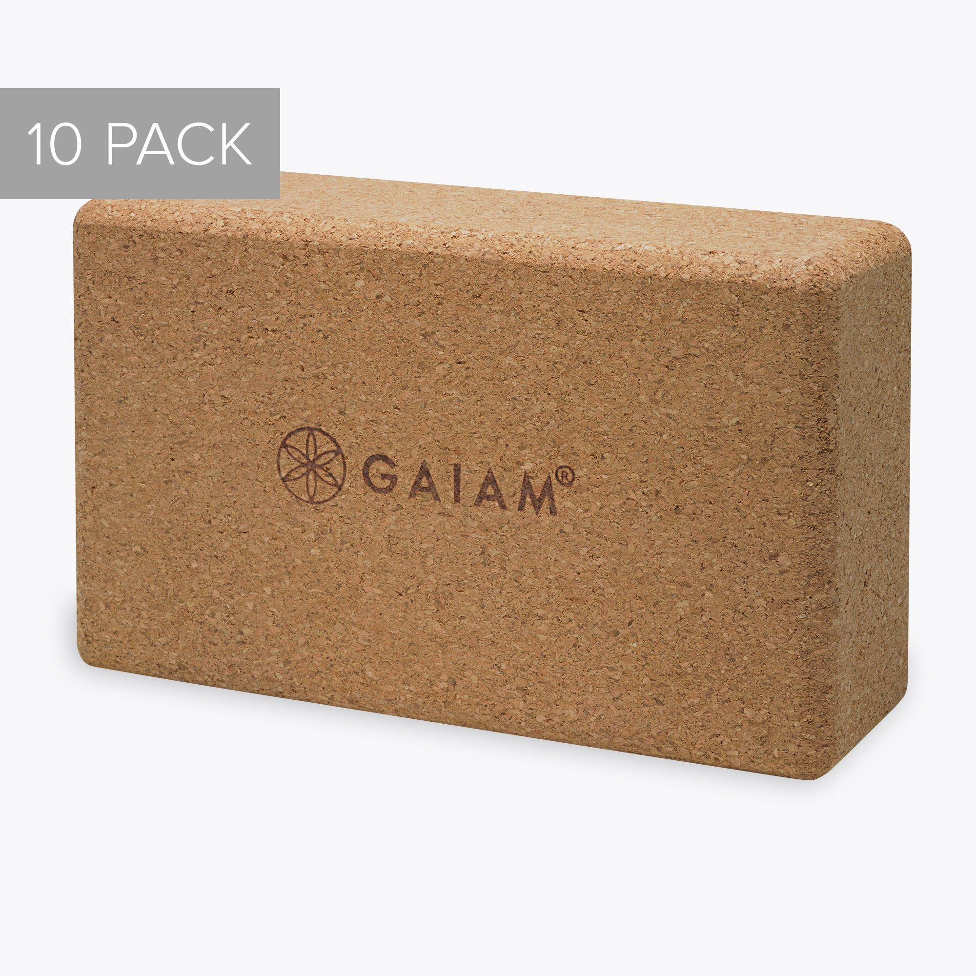 Gaiam Cork Yoga Brick - 10 Pack
