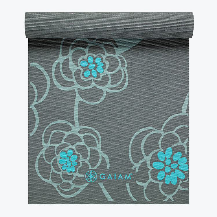Premium Icy Blossom Yoga Mat 5mm Gaiam
