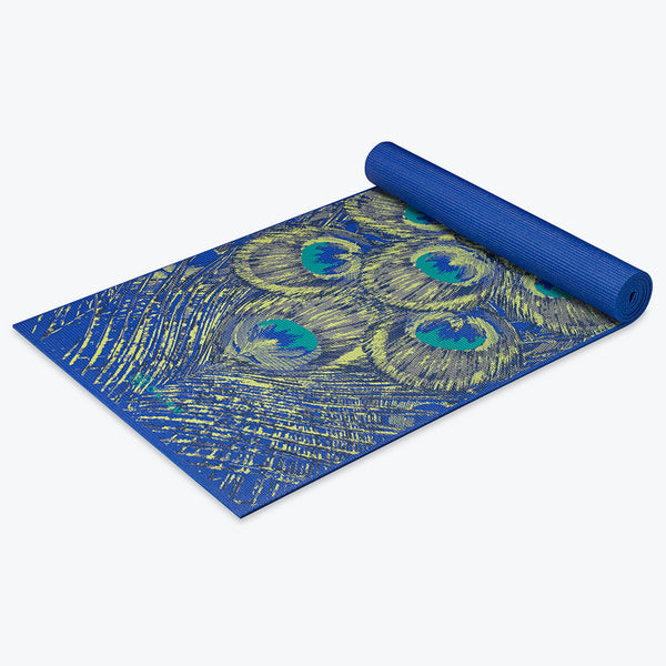 Premium Sapphire Feather Yoga Mat 5mm Gaiam