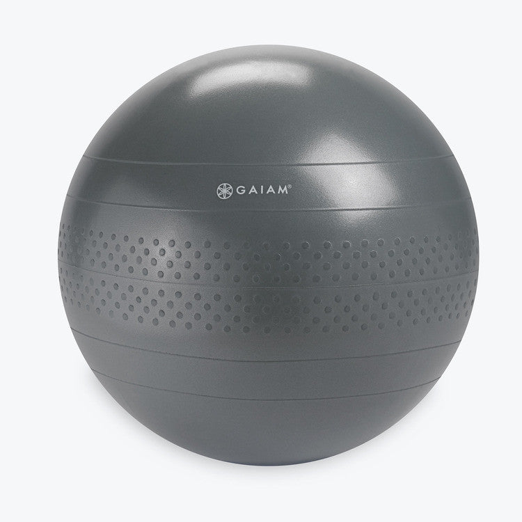 Add balance to your life with this Gaiam 65Cm Latex Free Anti-Burst Active Sitting Large Balance Ball. Work your core, stretch your back, or use it as a seat. This ergonomic latex-free balance ball will be your daily go-to piece of equipment at the gym, the office, or at home. Not compatible with the Classic Balance Ball Chair.