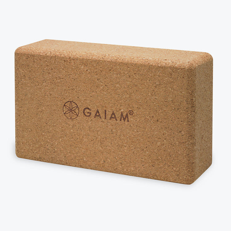 "Our Gaiam All-Natural Cork 6"" Yoga Brick is a great option for those who do not feel flexible enough to complete some yoga poses. These bricks can also be used to extend the stretch of some poses for advanced yogis. Great texture, comfortable and pliable, these bricks provide optimal grip and traction. They are made from all-natural materials. Rounded edges for extra comfort."