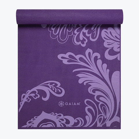 Yoga Mats Printed Rubber Grip Yoga Mat Gaiam