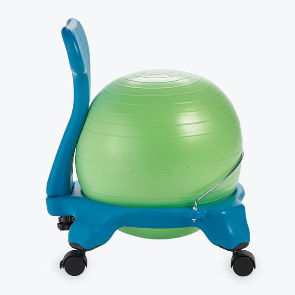 ... Kids Classic Balance Ball Chair In Green And Blue ...