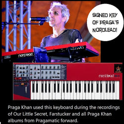 SIGNED KEY from Praga Khan's Nordlead keyboard