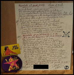Handwritten Praga Khan/Lords of Acid Lyrics by Praga Khan