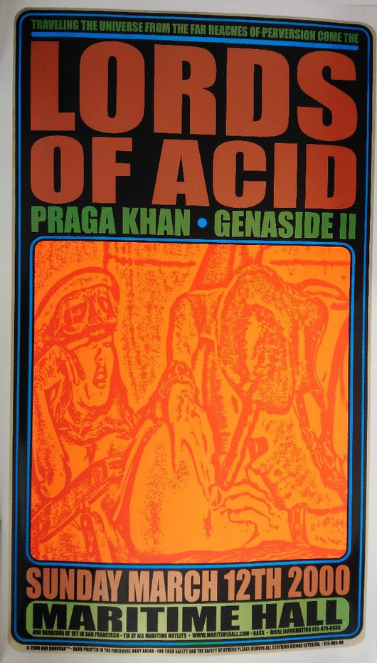 Lords of Acid Art - Hand Pulled Silkscreen Poster by Ron Donovan