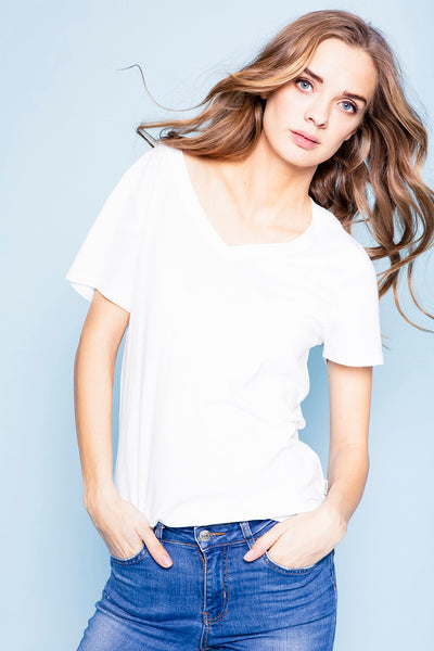 Bella cotton-modal tee