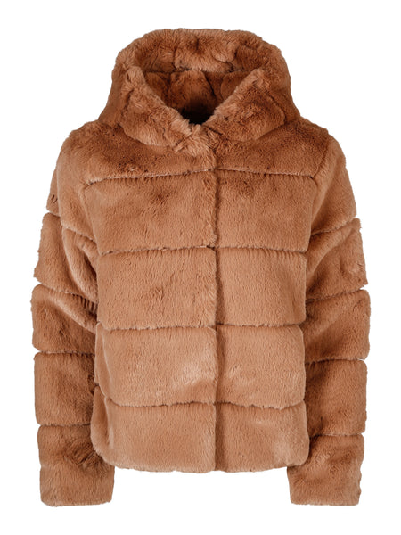 Caralita hood fake fur jacket