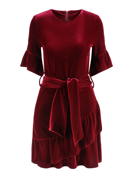 Charlisse velour dress