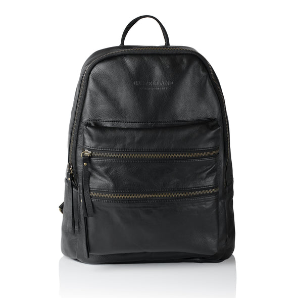 City Leather Backpack - Antique Silver