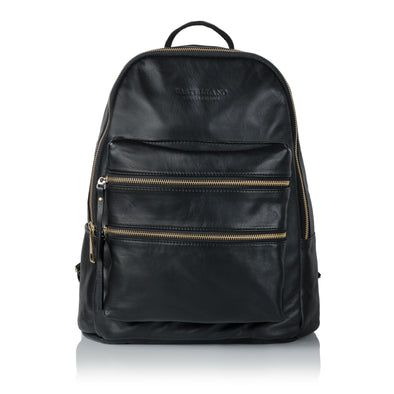 City Leather Backpack - Golden Brass