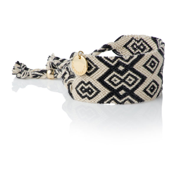 Pulsera Wayuu Good Vibes Cream