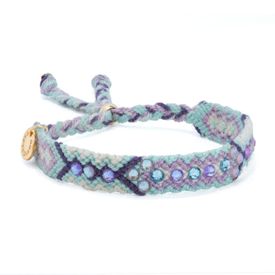 Pulsera Wayuu Be the Change-Violet