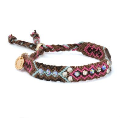 Pulsera Wayuu Be the Change-Cappuccino