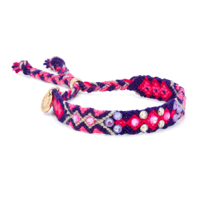 Pulsera Wayuu Be the Change-Electric Purple